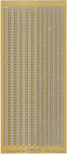 サークルつなぎ ボーダー  飾り ゴールド スクラップブッキング シール 1シート
