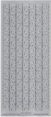 スワール ボーダー  飾り シルバー シール 1シート  スクラップブッキング エッグアート