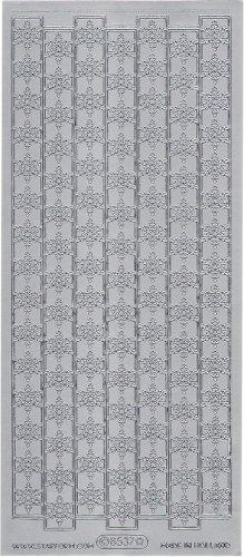スノーフレーク ボーダー  飾り シルバー シール 1シート  スクラップブッキング エッグアート
