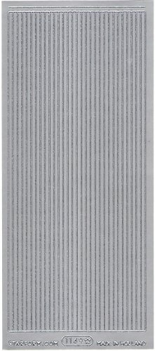 シンプル ボーダー  飾り シルバー シール 1シート  スクラップブッキング エッグアート