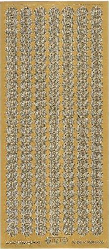 ガーベラ ボーダー  飾り ゴールド シール 1シート  スクラップブッキング エッグアート