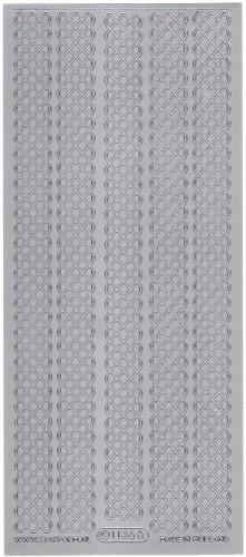 ラティス ボーダー  飾り シルバー シール 1シート  スクラップブッキング エッグアート
