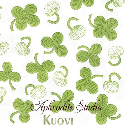北欧 40cm クオヴィ  エアレイド(不織布)ペーパーナプキン ワイルドクローバー 1枚 バラ売り WILD CLOVER アピラ APILA kuovi