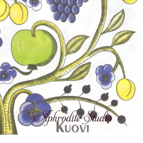 北欧 40cm クオヴィ  エアレイド(不織布)ペーパーナプキン オーチャード カラフル ORCHARD 1枚 バラ売り kuovi