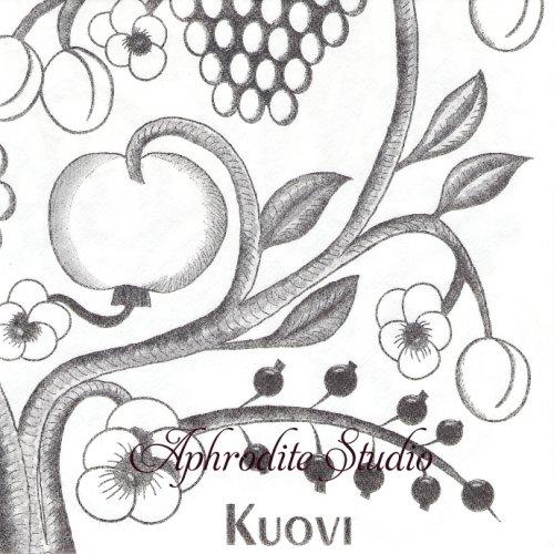 北欧 40cm クオヴィ  エアレイド(不織布)ペーパーナプキン オーチャード モノクロ ORCHARD 1枚 バラ売り kuovi
