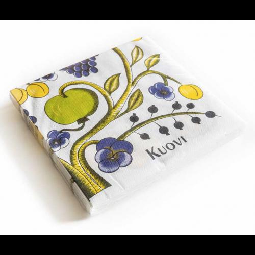 1パック15枚 北欧 40cm クオヴィ  エアレイド(不織布)ペーパーナプキン オーチャード  カラフル ORCHARD kuovi