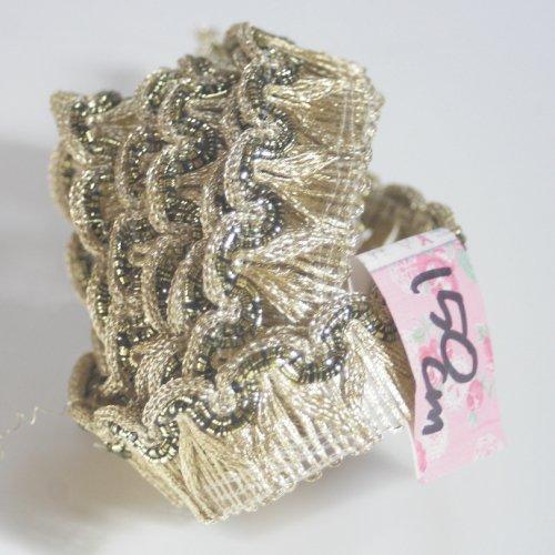 ゴールド リボン トリム  150cm カット済み 1本 お裁縫、スクラップブッキング、カルトナージュなどの装飾に