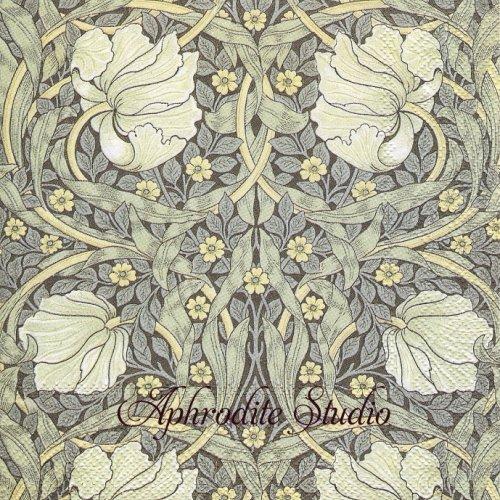 1パック20枚 V&A ウィリアム・モリス PIMPERNEL お花 1 33cm ペーパーナプキン  William Morris Ihr