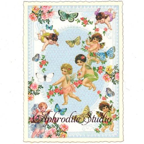 ヴィクトリアン ポストカード 『Angels 2』 葉書 ハガキ カード