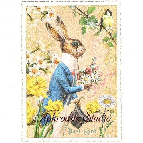 ヴィクトリアン ポストカード 『Rabbit』 葉書 ハガキ カード