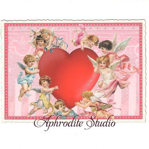 ヴィクトリアン ポストカード 『Cupids』 葉書 ハガキ カード