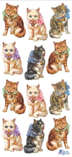 Cranky Cats 猫たち 1シート ヴィクトリアン シール ラベル ビクトリアン Victorian ラッピング
