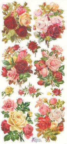 Huge roses バラの花束1シート ヴィクトリアン シール ラベル ビクトリアン Victorian ラッピング