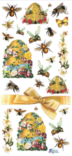 Beehive ミツバチ 1シート ヴィクトリアン シール ラベル ビクトリアン Victorian ラッピング