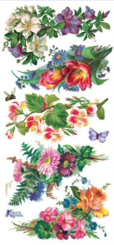 Mary's Corners お花のコーナー飾り 1シート ヴィクトリアン シール ラベル ビクトリアン Victorian ラッピング
