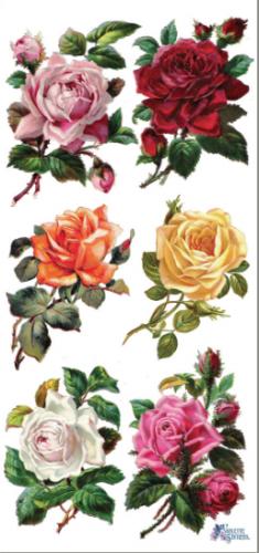 Six Rosebuds 6輪の薔薇 1シート ヴィクトリアン シール ラベル ビクトリアン Victorian ラッピング