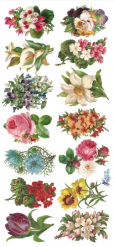 Vignettes 小さな花束 薔薇 1シート ヴィクトリアン シール ラベル ビクトリアン Victorian ラッピング