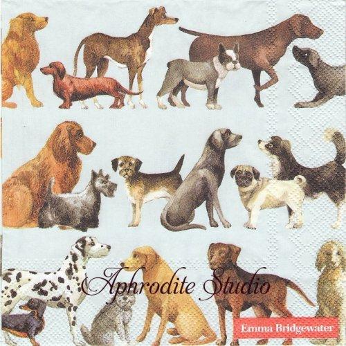 1パック20枚 エマ・ブリッジウォーター DOGS Emma Bridgewater  33cm ペーパーナプキン Ihr