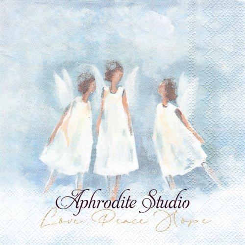 LOVE PEACE HOPE 3人の天使 1枚 バラ売り 33cm ペーパーナプキン Ihr
