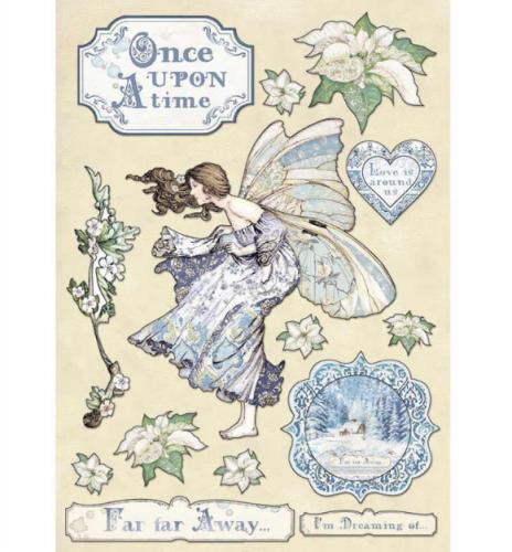 スタンペリア A5サイズ 木製装飾片 【Once Upon a time 】 KLSP079 スクラップブッキング Stamperia