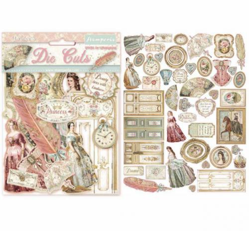 スタンペリア エンベリシュメント 厚紙製装飾片 【Princess】 DFLDC16  スクラップブッキング Stamperia