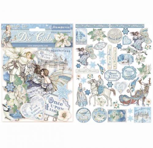 スタンペリア エンベリシュメント 厚紙製装飾片 【Winter Tales】 DFLDC17  スクラップブッキング Stamperia