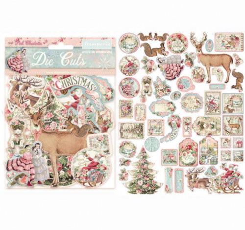 スタンペリア エンベリシュメント 厚紙製装飾片 【Pink Christmas】 DFLDC15  スクラップブッキング Stamperia