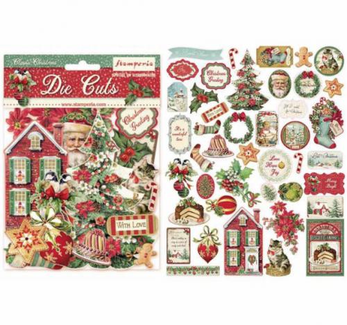 スタンペリア エンベリシュメント 厚紙製装飾片 【Classic Christmas】 DFLDC14  スクラップブッキング Stamperia