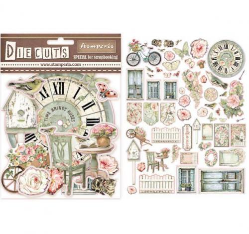 スタンペリア エンベリシュメント 厚紙製装飾片 【House of Roses】 DFLDC03  スクラップブッキング Stamperia