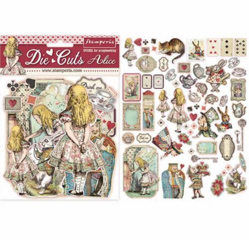 スタンペリア エンベリシュメント 厚紙製装飾片 【Alice】 DFLDC07  不思議の国のアリス スクラップブッキング Stamperia