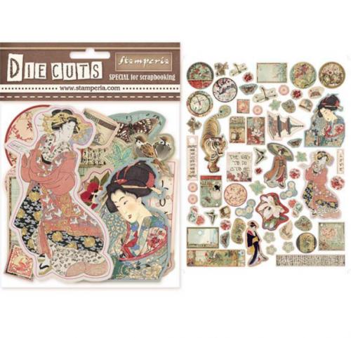 スタンペリア エンベリシュメント 厚紙製装飾片 【Oriental Garden】 DFLDC04  スクラップブッキング Stamperia