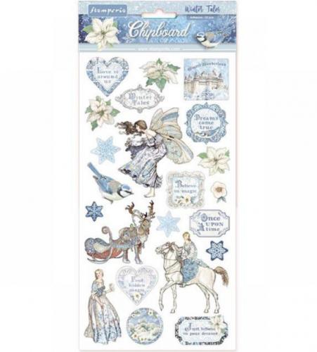 スタンペリア エンベリシュメントチップボード 装飾片 【Winter Tales】  DFLCB09  スクラップブッキング Stamperia