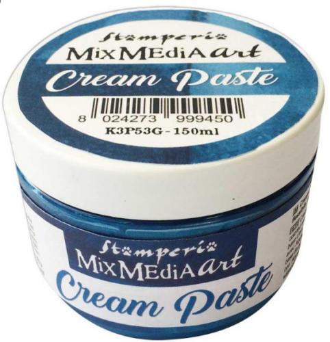 スタンペリア 薄型モールドに メタリッククリームペースト ブルー Cream paste 150ml K3P53G STAMPERIA