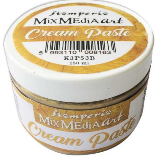 スタンペリア 薄型モールドに メタリッククリームペースト ゴールド Cream paste 150ml K3P53B STAMPERIA