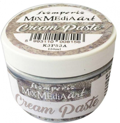 スタンペリア 薄型モールドに メタリッククリームペースト シルバー Cream paste 150ml K3P53A STAMPERIA