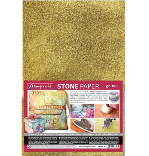 スタンペリア 石から出来た強い紙 ストーンペーパー ゴールド A4サイズ 厚紙 Stone paper A4 DFPCA4G Stamperia