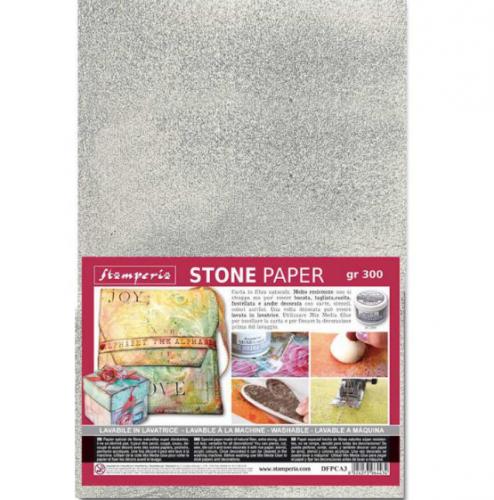 スタンペリア 石から出来た強い紙 ストーンペーパー シルバー A4サイズ 厚紙 Stone paper A4 DFPCA4S Stamperia