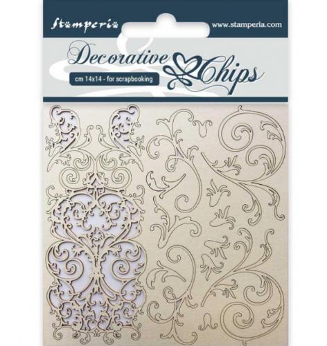 スタンペリア A5サイズ 木製装飾片 【Tapestry】 SCB15  スクラップブッキング Stamperia