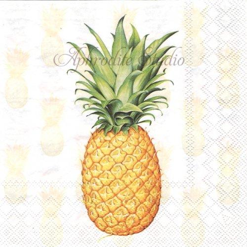 25cm Tropical fruit パイナップル 1枚 バラ売り ペーパーナプキン  Ambiente