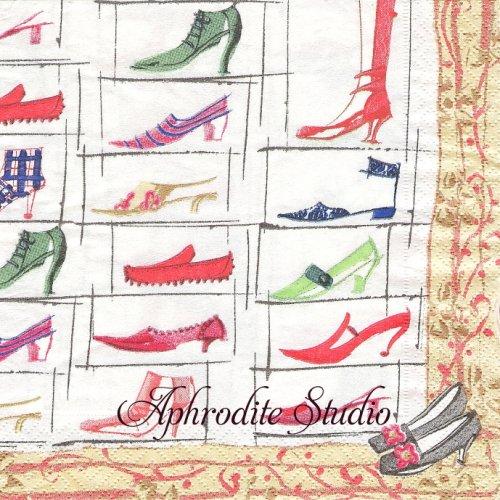 カスパリ MASAKI SHOES マサキ・リョウ 靴  1枚 バラ売り 33cm ペーパーナプキン  Caspari