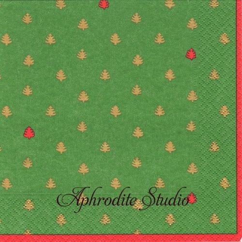 カスパリ 廃盤 ミニツリー クリスマス 1枚 バラ売り 33cm ペーパーナプキン Caspari