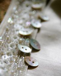 葉っぱのカタチのあこや貝のボタン*2穴15mm/1個
