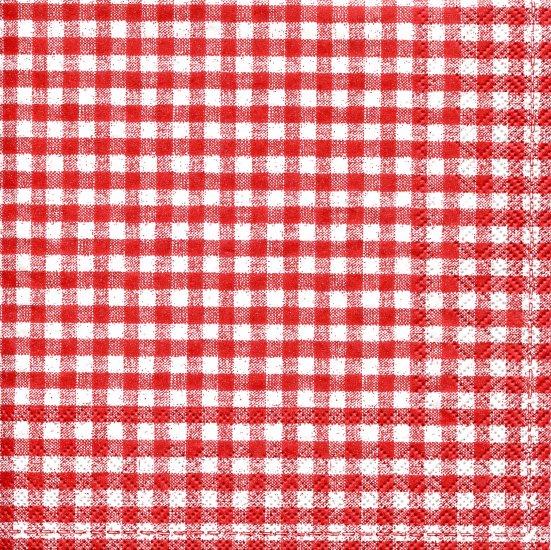 5mm角の赤いギンガムチェック/1枚/33cm/紙ナプキン/