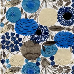 北欧 廃盤 マリメッコ*シトルナプー*ブルー/1枚/25cm/紙ナプキン/バラ売り