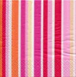廃盤 24cm マリメッコ ストライプ オンネリネン ONNELLINEN ピンク フィンランド製 1枚 ペーパーナプキン バラ売り marimekko