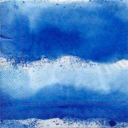 25cm 北欧 廃盤 マリメッコ LUOVI ブルー ルオーヴィ 波 しぶき 1枚 バラ売り ペーパーナプキン marimekko