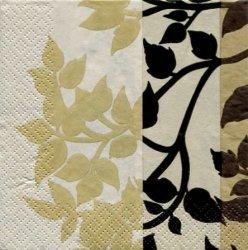 マリメッコ*植物*茶系/1枚/24cm/紙ナプキン/バラ売り