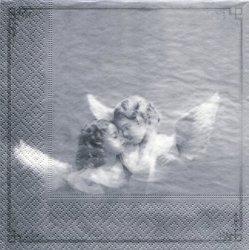 北欧 Two Angels よりそうふたりの天使 1枚 ばら売り 33cm 紙ナプキン デコパージュ SAGEN VINTAGE DESIGN