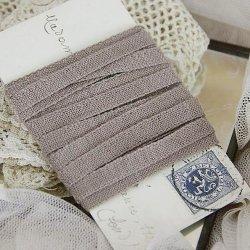 カフェ・オ・レ色の木綿テープ*レース*トリム/3メートル