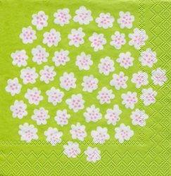 25cm 北欧 マリメッコ PUKETTI プケッティ ライトグリーン 1枚 バラ売り ペーパーナプキン marimekko